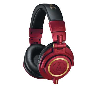 Audio-Technica Now Shipping ATH-M50xRD Red-and-Gold Professional Monitor Headphones