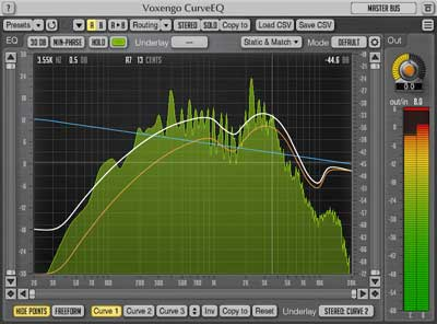 Voxengo CurveEQ 3.6 Spline Equalizer Plugin Released