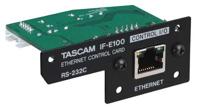 TASCAM IF-E100 Card Enables Ethernet Control of CD-400U Media Player