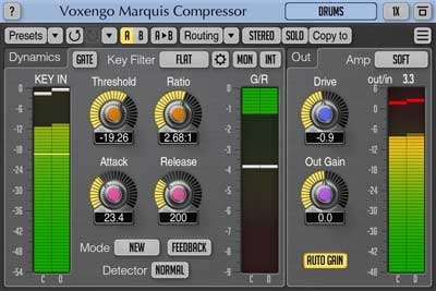Voxengo Marquis Compressor 2.1 compressor plugin released