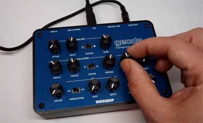 MeeBlip geode Synthesizer is the Newest from Blipsonic, CDM