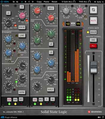 Solid State Logic's 9000 J joins Brainworx's SSL-Console Series