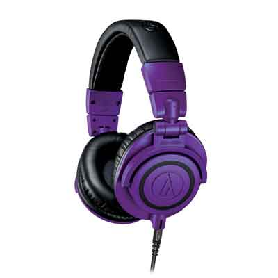 Audio-Technica Releases Limited-Edition Purple/Black Models of the Popular ATH-M50x Wired and ATH-M50xBT Wireless Over-Ear Headphones