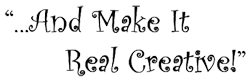and make it real creative logo 3