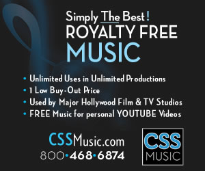 CSS Music Large Banner